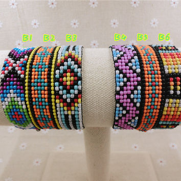 Beaded Friendship Handmade Bracelet Hippy 7row B1-6 Beaded Friendship Bracelet Rope String Friendship Bracelets For Women Men
