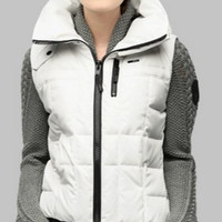 Meego Ladies Canadian Down filled Crosshatch Stone Vest