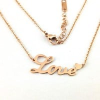 Fashion Necklace Mother Gift Silver Gold Engraved Letter Pendant Necklace Shiny New Arrival Jewelry Gift