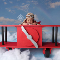 PJ's Bi-Plane Airplane toddler wood photography prop