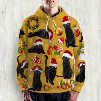 CAT ALL OVER PRINT HOODIE - HD004PA