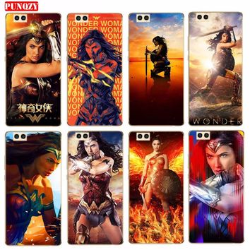 Case For Huawei P 10  P8 Lite 2017 P 10 Plus Soft TPU Case Cover Clear Protector Cas Pour Love Mobile Phone Shell Wonder Woman