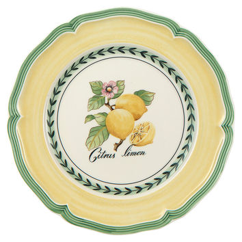 French Garden Lemon Salad Plate, Salad Plates
