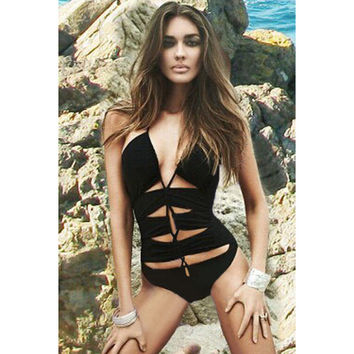 Summer beach Stylish One-piece swimsuit  = 4465881860