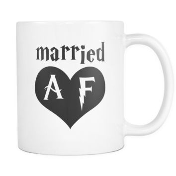 Married AF Funny Wedding Anniversary Mug