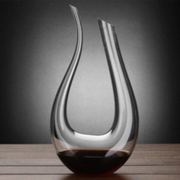 Handmade Crystal Red Wine Pourer Glass Decanter