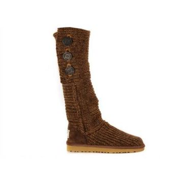 Ugg Boots Black Friday Knit Classic Cardy 5819 Chocolate For Women 81 14
