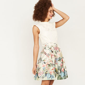 FITZWILLIAM LACE SKATER DRESS