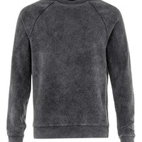 Washed Black Fleecy Sweatshirt - New This Week - New In