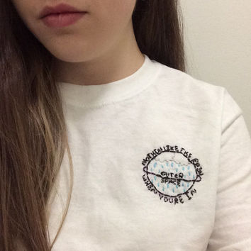 5SOS Embroidered Outer Space/Carry On T-Shirt
