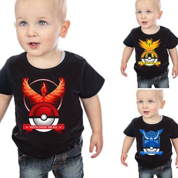 Z&Y 3-16Years  Go T-shirt Kids Clothes Baby Boy Cotton Shirts Pikachu Tshirt Kids Summer Clothes Boys Shirt Short 8240Kawaii Pokemon go  AT_89_9