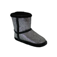 Silver Shimmer Micro Boot : Snooki : Happy Feet Slippers : BuyHappyFeet.com : snookislippers.com