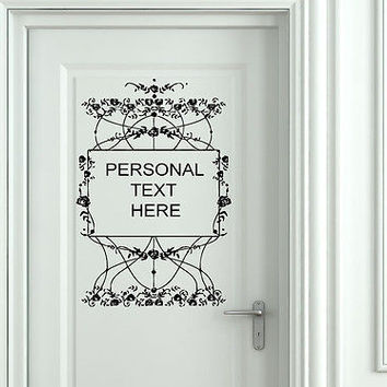 Wall Mural Vinyl Decal Sticker Sign Door Frame Personalized Text Name AL276