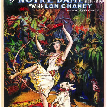 The Hunchback of Notre Dame 11x17 Movie Poster (1923)