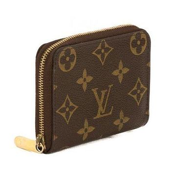Fashion LV louis vuitton women s fashion clutch Zipper wallet Coffee Lv Print