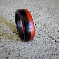 Wooden Ring Padauk/ African Blackwood Size 8.5