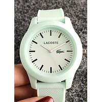 Lacoste new tide brand simple wild candy color casual jelly watch