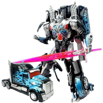 New 24cm Robocar Transformation Robots Car model Classic Toys Action Figure Toy For Children Boy toys Music car model