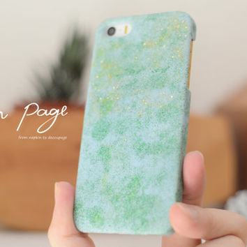 Blue shimmer iphone cases
