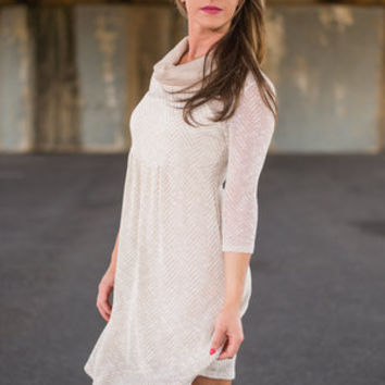 Comfy Capable Dress, Beige