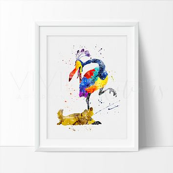 Dug & Kevin, Up Balloon House Watercolor Art Print