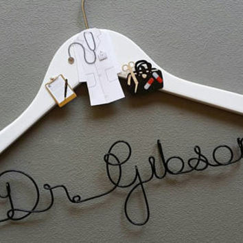 Personalized Doctor Hanger, New Graduate, 1st White Coat Hanger, Doctor 1st White Coat Ceremony, Gift for Doctors