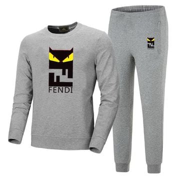 fendi men's and women's round neckwear trousers and trousers suit