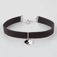 Full Tilt Yin Yang Velvet Choker Black One Size For Women 26314110001