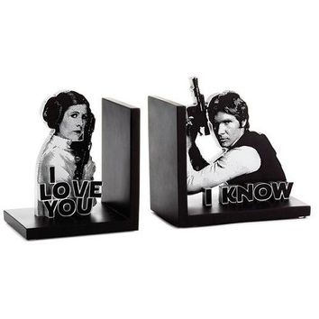 Star Wars™ Han Solo™ and Princess Leia™ Bookends, Set of 2