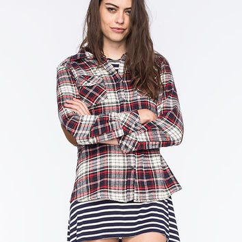 Ci Sono Womens Flannel Shirt Multi  In Sizes