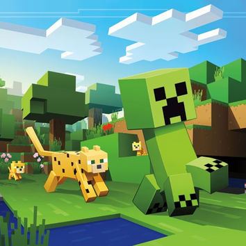 Minecraft - Ocelot Chase Game Poster 22x34 RP15038 UPC882663050383