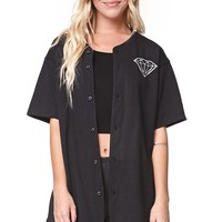 Diamond Supply Co Holiday Collection Baseball Jersey - Womens Tee - Black