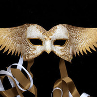 Golden wings by TheArtOfTheMask on Etsy