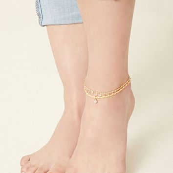 Braided Anklet Set