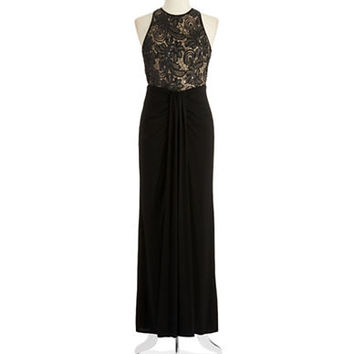 Xscape Sequin and Lace Gown