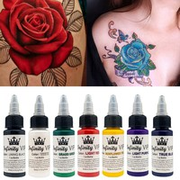 30ml Natural Plant Tattoo Pigment Permanent Makeup Bottle Tattoos Ink Pigment For Body Professional Beauty Art Supplies P TSLM2