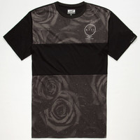 Neff Panel Floral Mens T-Shirt Black  In Sizes