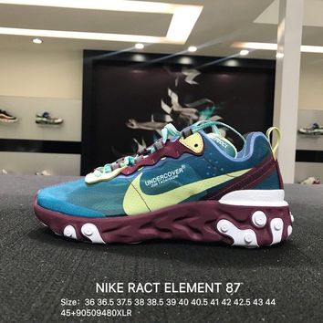 Nike Epic React Flyknit Blue White Women Men Sports Running Shoes Sneaker - AQ1813-342