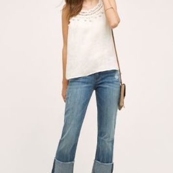 Pilcro Hyphen High-Cuff Jeans in Tinted Denim Size: