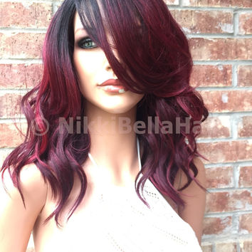 "Janet Sizzling Red Front Lace Wig 10"" Heat Ok 1103"