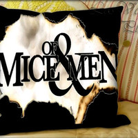 Of Mice and Men Quote Logo - Pillow Cover and Pillow Case.