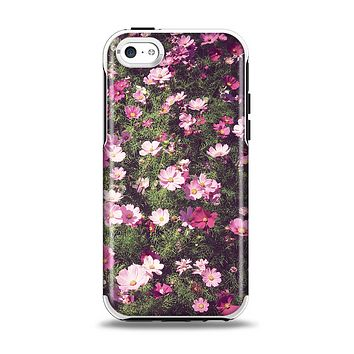 The Vintage Pink Floral Field Apple iPhone 5c Otterbox Symmetry Case Skin Set