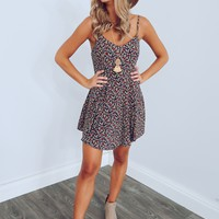 Ticket To Anywhere Dress: Navy/Multi