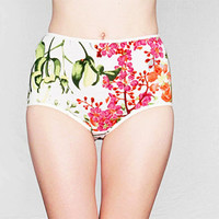 Floral High Waisted Panties by Egretta Underwear