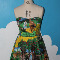 wizard of Oz yellow brick road sweet heart dress - all sizes