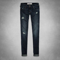 A&F Mid Rise Super Skinny Jeans