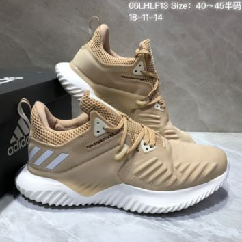 AUGUAU A462 Adidas Alphabounce Beyond 3.5 Mesh Breathable Running Shoes Brown