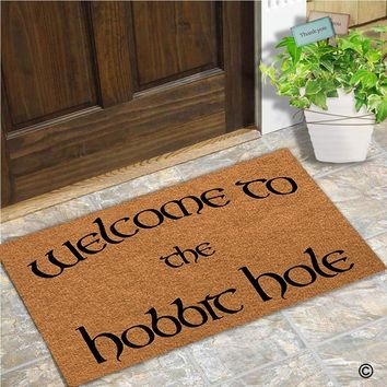 Autumn Fall welcome door mat doormat  Entrance Floor Mat Welcome To The Hobbit Hole Mat Indoor Decorative Home and Office  23.6 by 15.7 Inch AT_76_7
