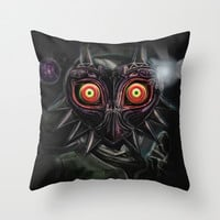 Legend of Zelda Majora's Mask Link Throw Pillow by Barrett Biggers | Society6