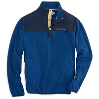 Navigational Fleece Pullover in Blue Lake by Southern Tide